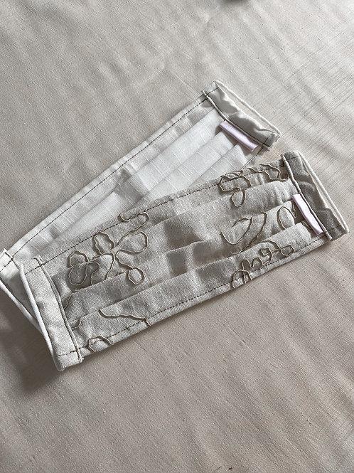 2 Pack of Linen Face Masks | Ecru