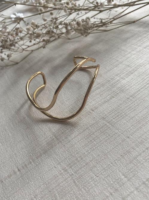 Irregular Cuff Bracelet | Gold