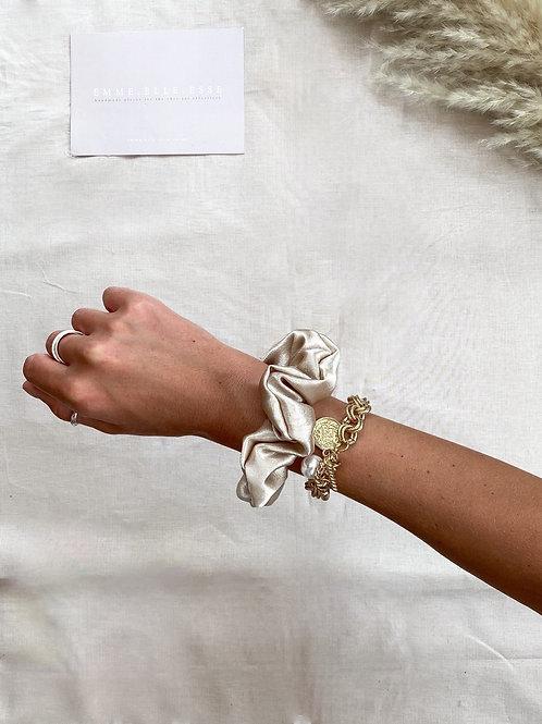 Silk Satin Scrunchie | Stone
