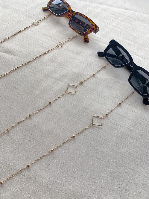 Square Detail Sunglasses Chain
