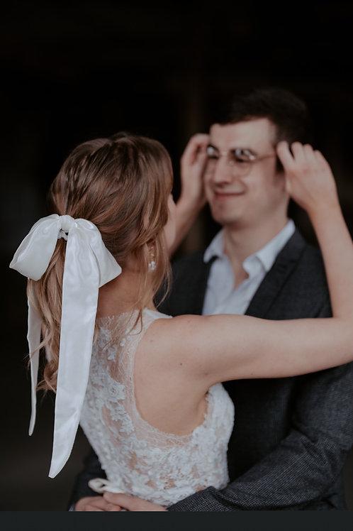 Bridal Satin Hair Tie | 2 Colours Available