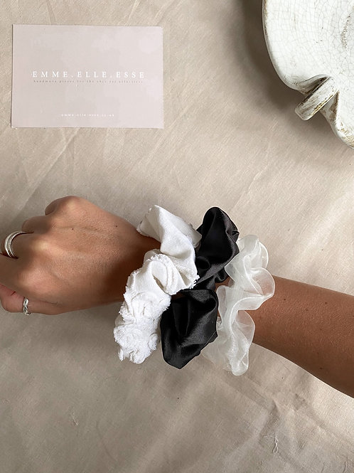 3 Pack of Scrunchies   Monochrome