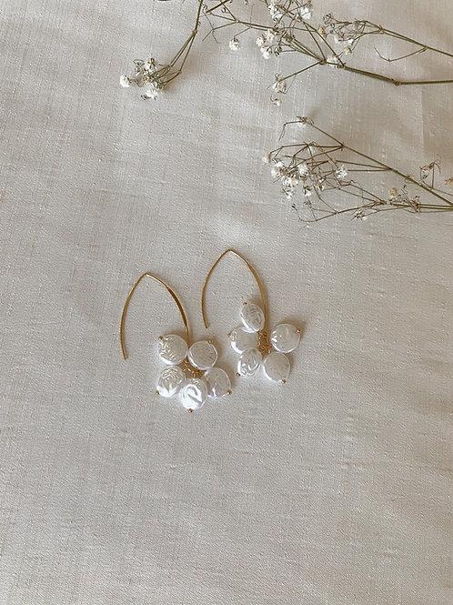 Pearl Petal Hook Earrings