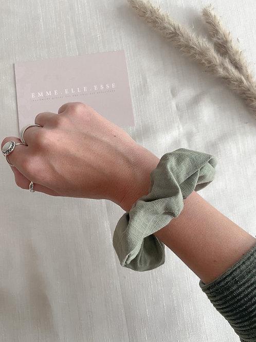 Linen Scrunchie | Khaki