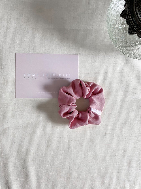 Linen Scrunchie | Rose