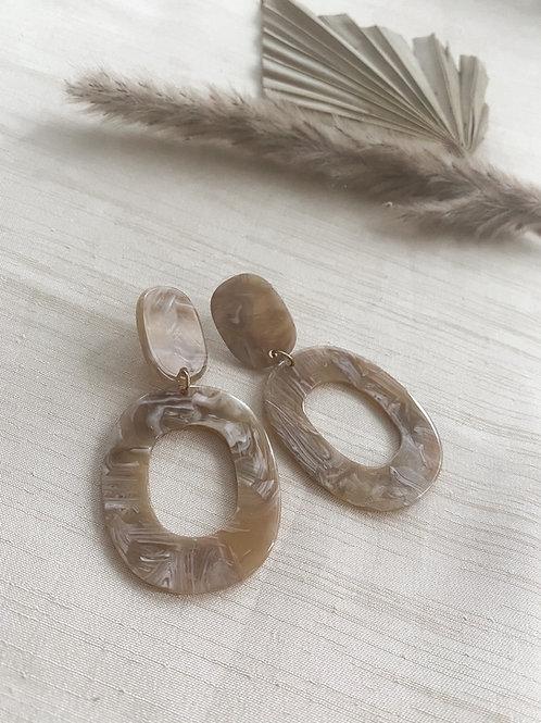 OVAL Drop Earrings | Caramel