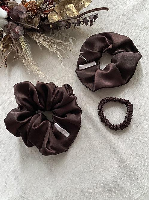 Satin Scrunchie | Chocolate