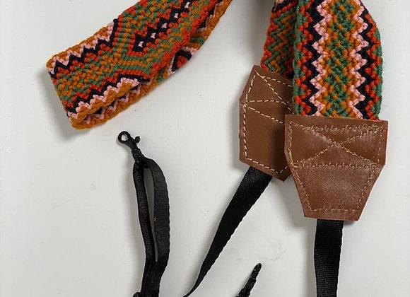 Wayuu Wide Strap Camera Leather & Buckle