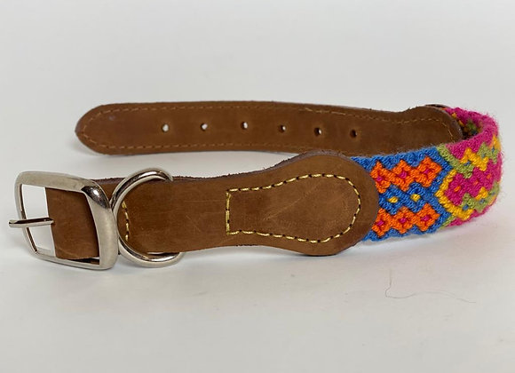 Wayuu Dog Collar M (35-43 cm) Leather & Buckle