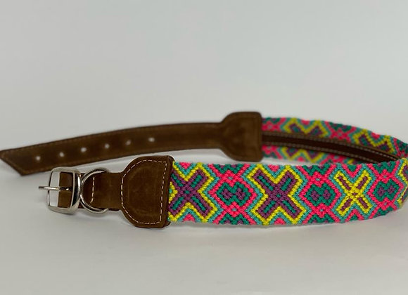 Wayuu Dog Collar XL (50-63cm) Leather & Buckle