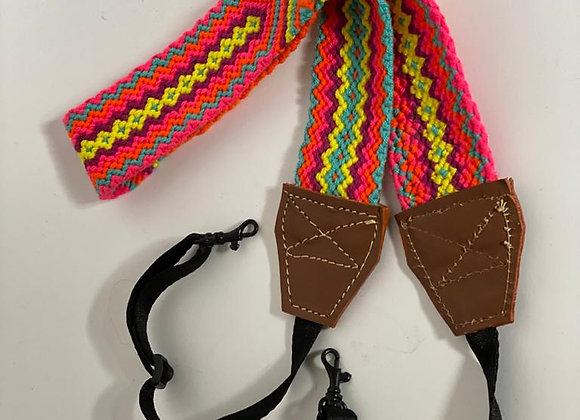 Wayuu Wide Strap Camera Leather & Buckle