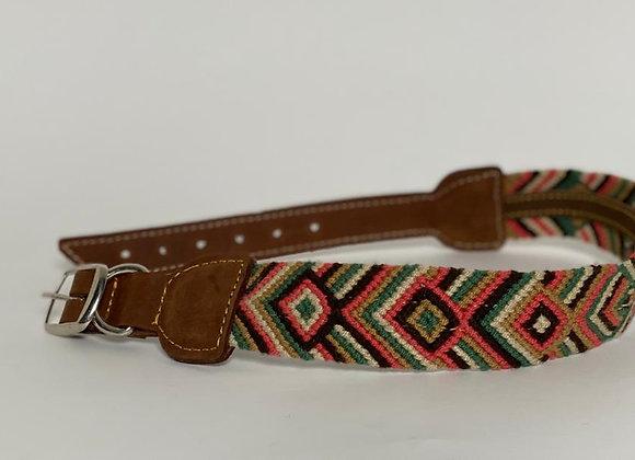 Wayuu Dog Collar XL (50-63cm) Leather & Buckle