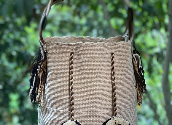 Wayuu Bag Big Handle Unicolor