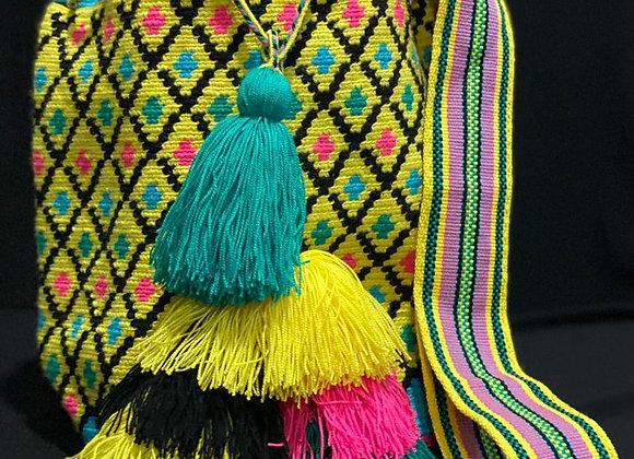 Wayuu Bag Special Design 8 Tassels