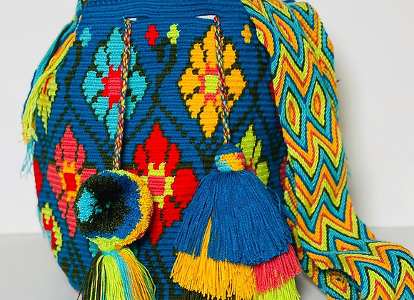 Wayuu Bag Pompom & Tassel Design