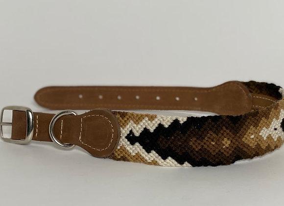 Wayuu Dog Collar L (41-53 cm) Leather & Buckle
