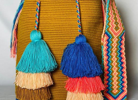 Wayuu Unicolor Gasa Paleteada 8 Tassels