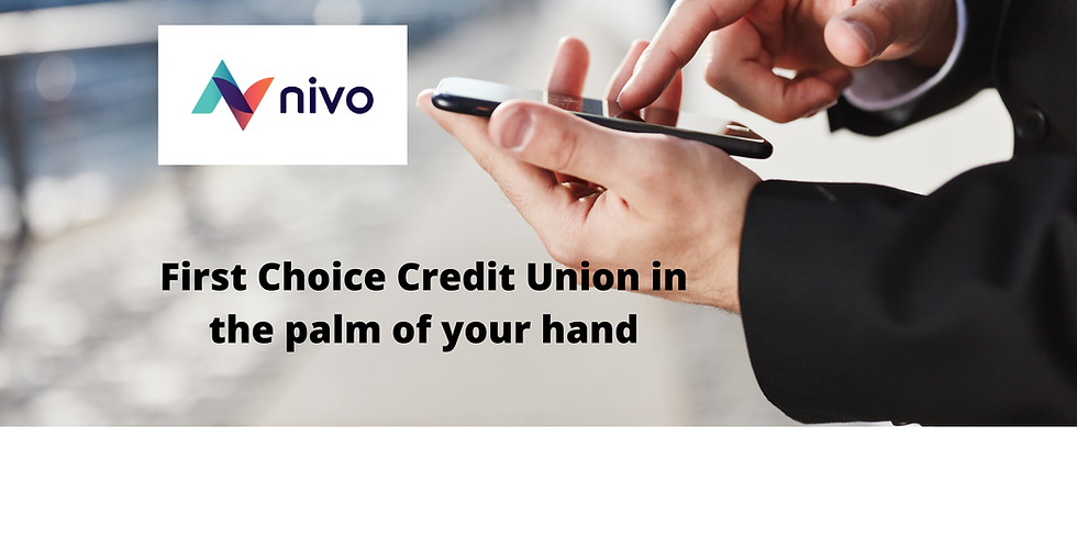 First Choice Credit Union in the palm of