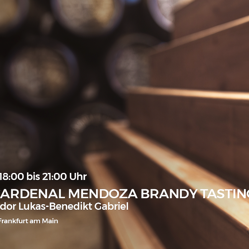 Exclusives Cardenal Mendoza Brandy Tasting mit Brand Ambassador Lukas-Benedikt Gabriel