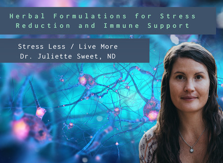 Join Us for December's Webinar on Herbal Formulations for Stress Reduction and Immune Support