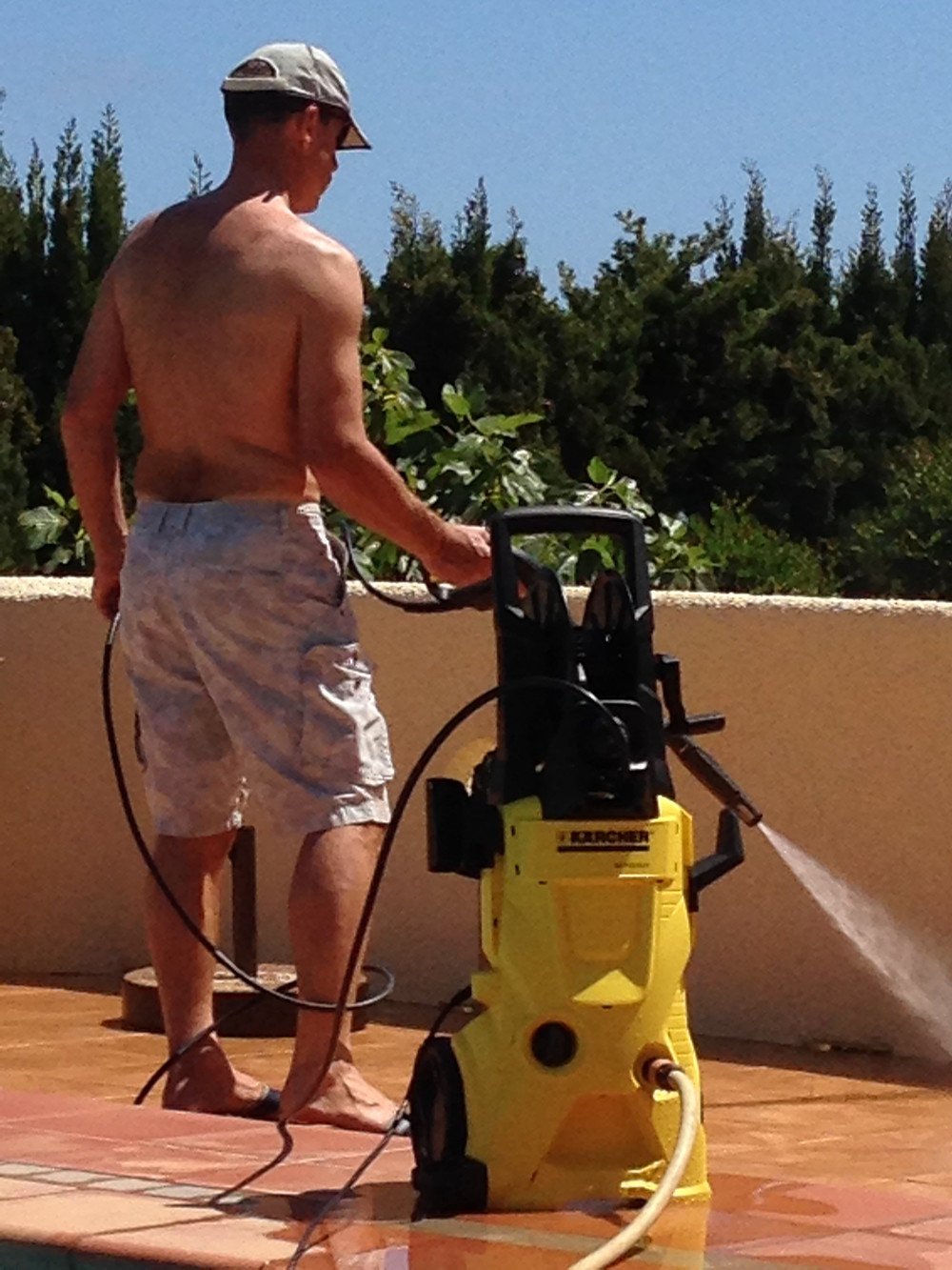 Home from home - jetwashing!