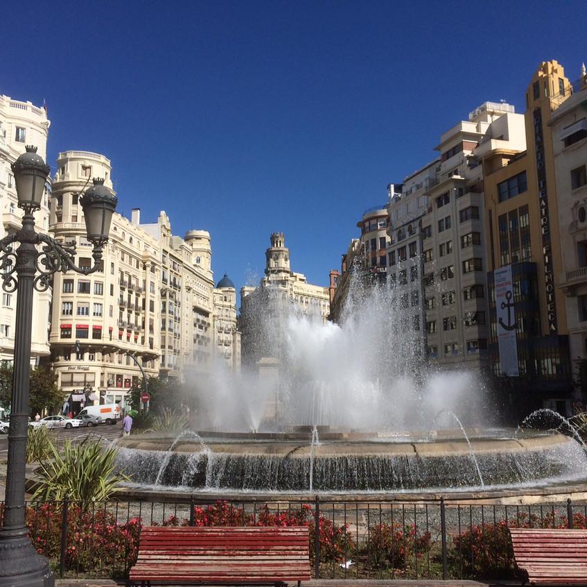 Fountain at Plaça de l'Ajuntament
