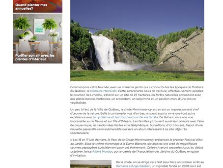 NOUVELLE TAPAGEUSE / Découvrez dans la série CARNET DE ROUTE le Parc de la Chute-Montmorency!