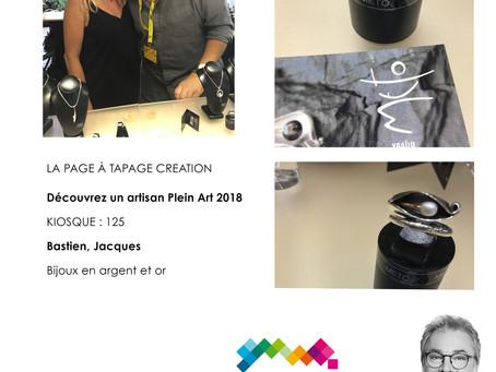 NOUVELLE TAPAGEUSE ... La page création #PLEINART2018 DE #TAPAGECREATION
