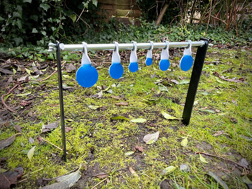 Air Targets Garden Spinners 6 Discs with Spike Stand