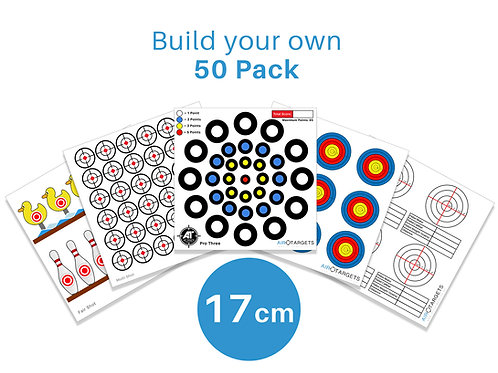 Build your own 17cm / 50 Pack of Targets