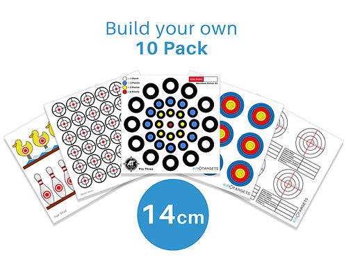 Build your own 14cm / 10 Pack of Targets