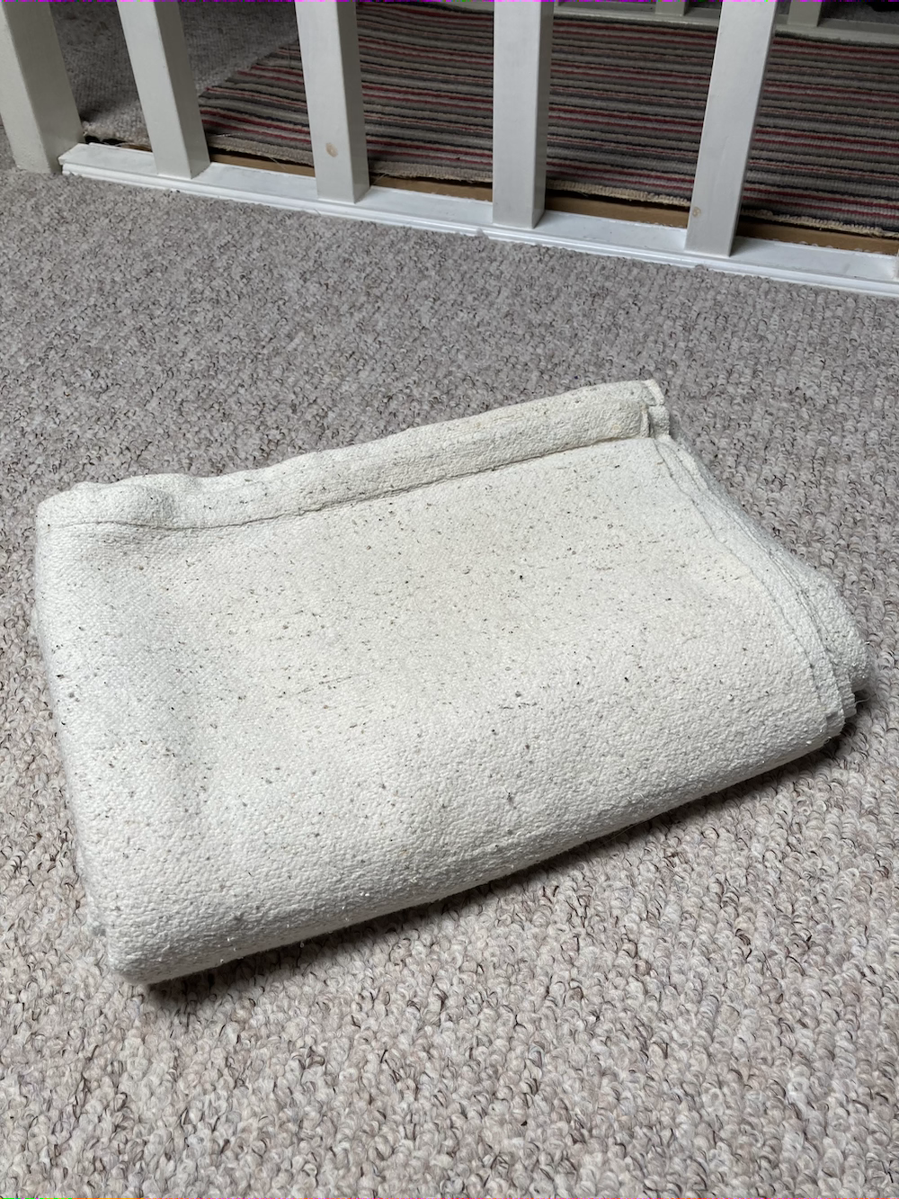 Indian cotton yoga blanket