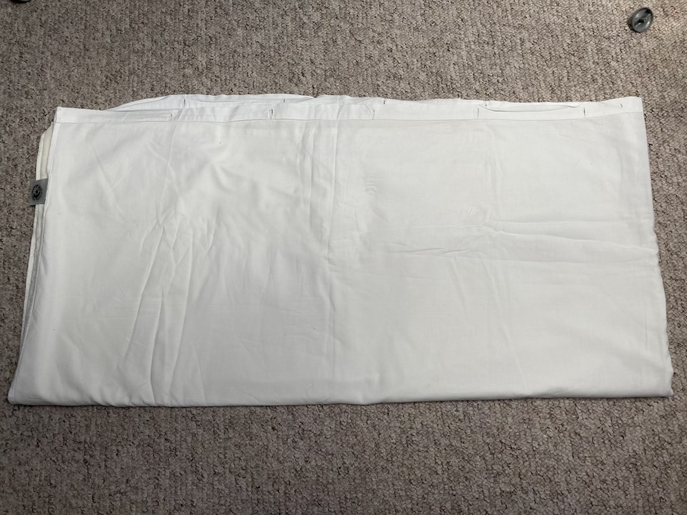 Folded duvet cover.