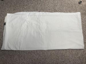 Folded duvet cover.