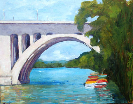 Key Bridge, kayaks, Potomac River