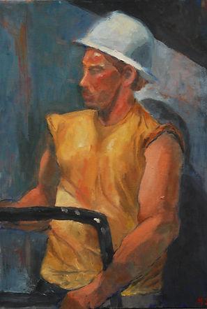 Hard Hat, figure, environmental portrait