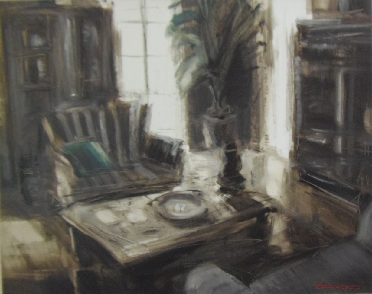 Interno con divanetto grigio, 2007