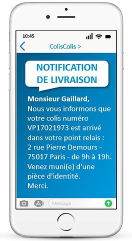 notification sms livraison