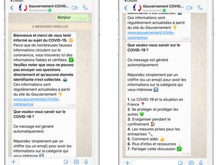 Covid19 : Le Gouvernement lance son compte officiel WhatsApp