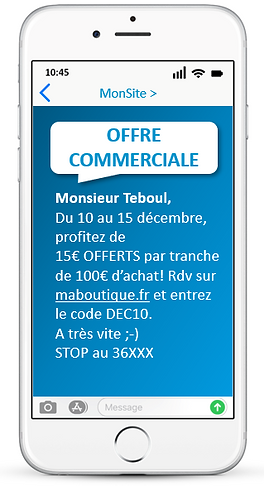 CAMPAGNE SMS ECOMMERCE