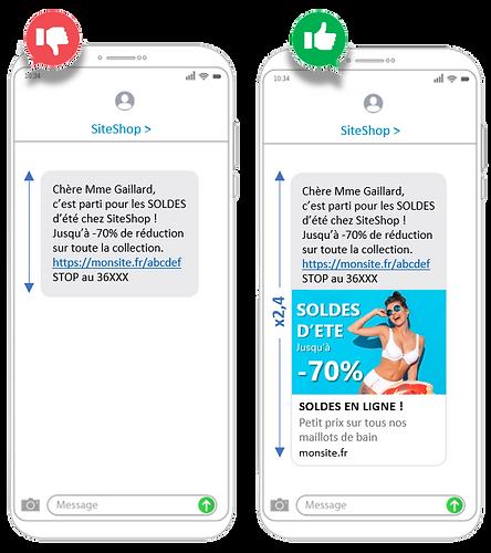 SMS avec et sans URL preview.PNG