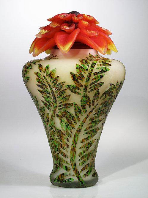 Floral Urn Orange