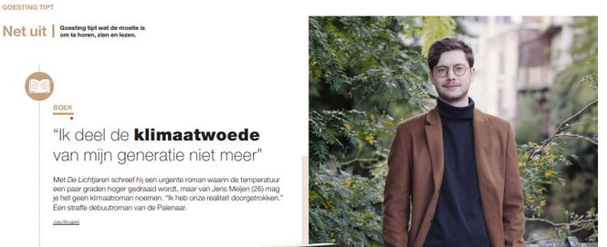 Interview met Jens Meijen voor Het Belang van Limburg