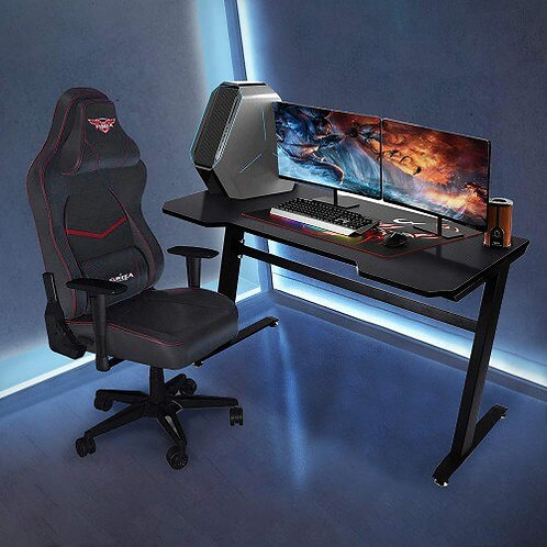 Gaming Desk Z Shaped Office PC Computer Gaming Desk Gamer Table