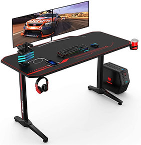 43/47/55 Ergonomic Gaming Desk E-Sports PC Gamer Workstation Rack & Mouse Pad