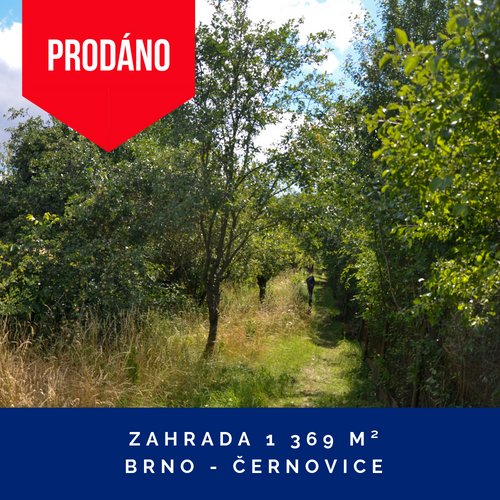 Prodej zahady - Brno, Černovice