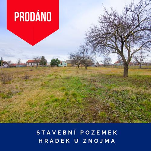 Prodej stavebního pozemku - Hrádek u Znojma