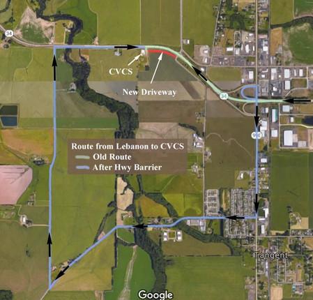 New Driveway Access to CVCS