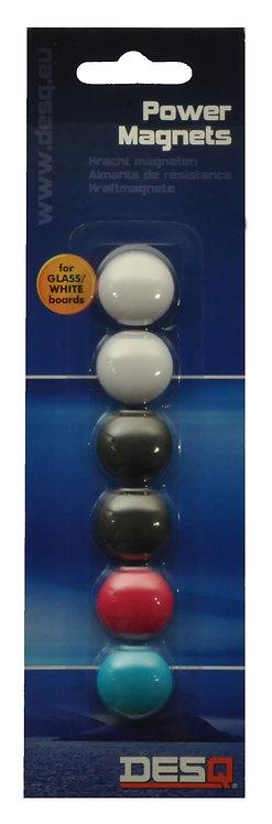 20mm Power Magnets for Glassboard, Pack 6