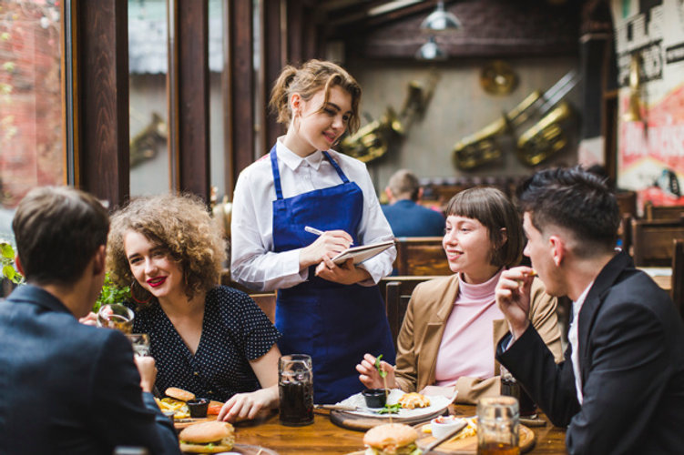 waitress-taking-orders-from-people-resta